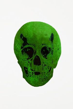 Damien Hirst, The Dead Lime Green Racing Green Skull