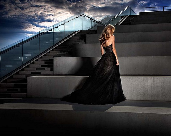 Girl in the Black Dress by David Drebin