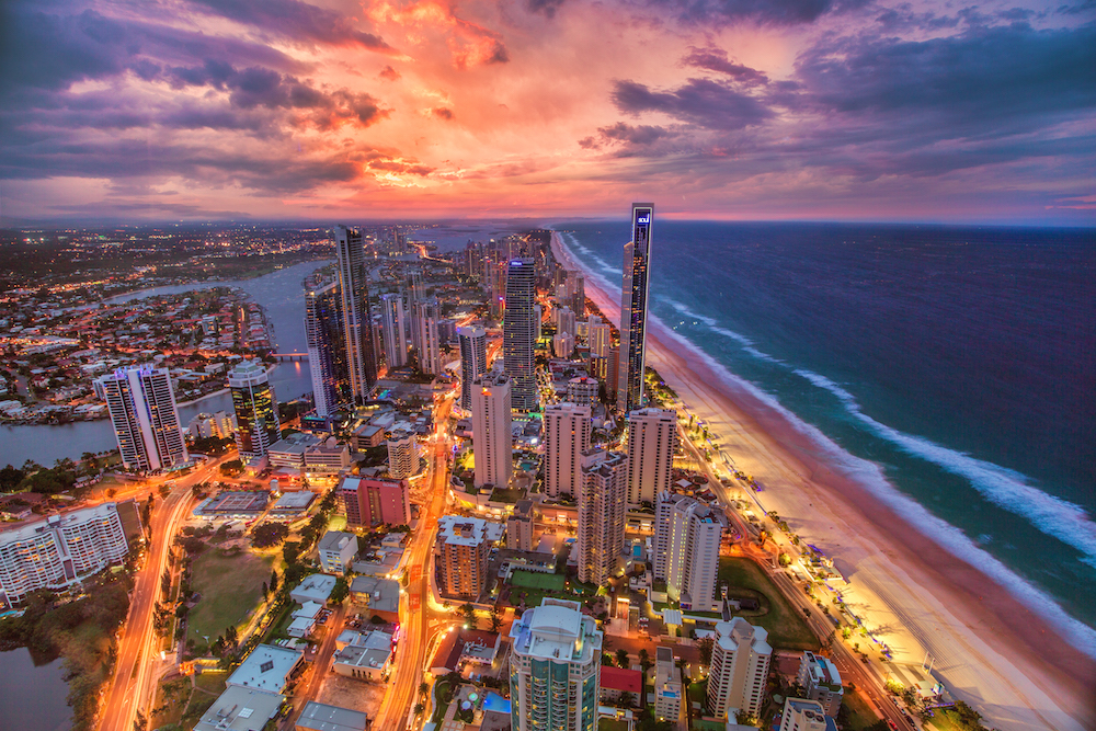 Gold Coast Gold Skies by @Jacob