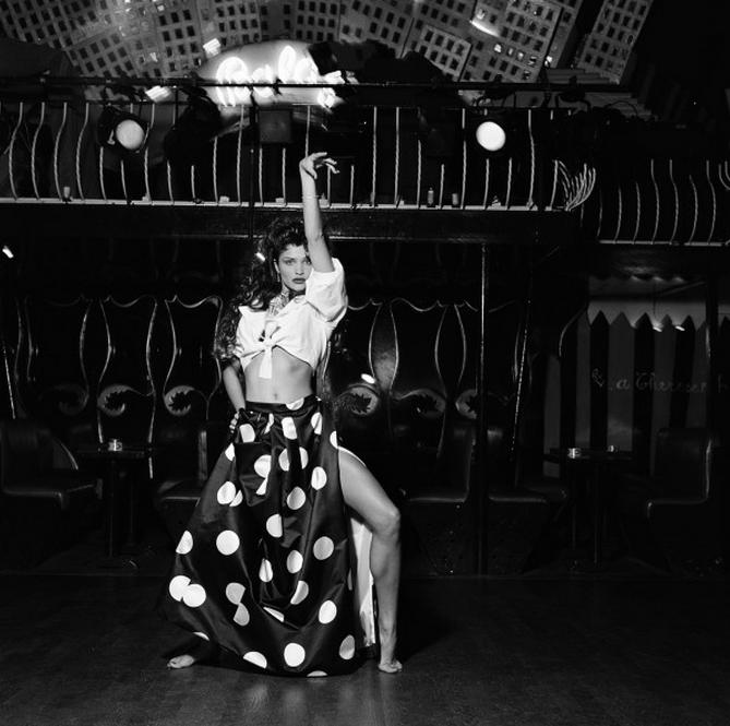 Helena Christensen Dancer by Michel Comte