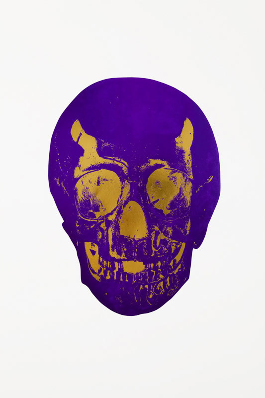Imperial Purple Skull by Damien Hirst
