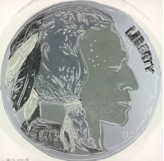 Indian Head Nickel by Andy Warhol