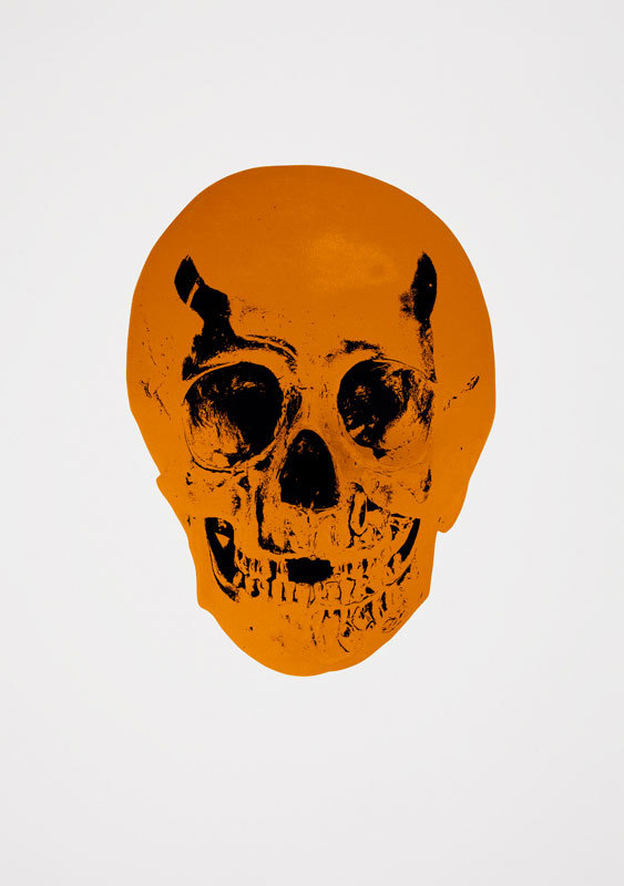 Island Copper Skull by Damien Hirst