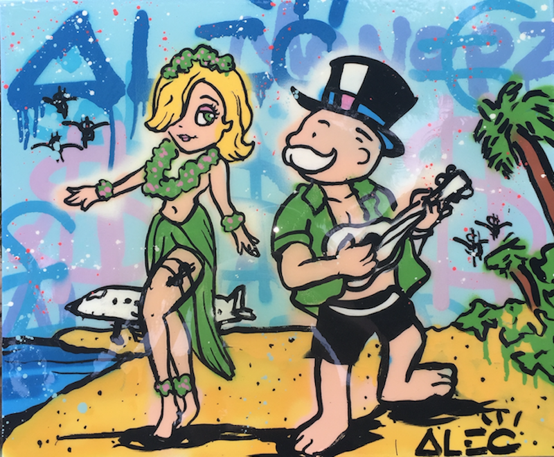 Island Graffiti Girl by Alec Monopoly