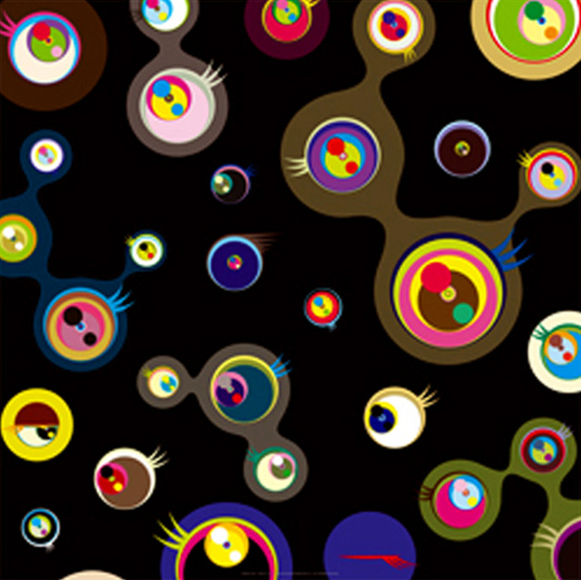 Black Jellyfish Eyes by Takashi Murakami