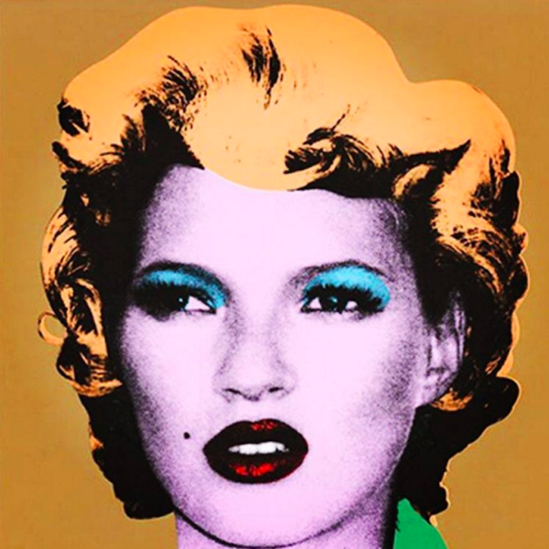 Kate Moss Gold by Banksy