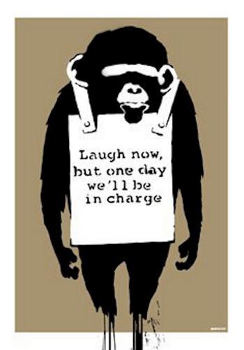 Laugh Now by Banksy, banksy, urban, street art, graffiti,