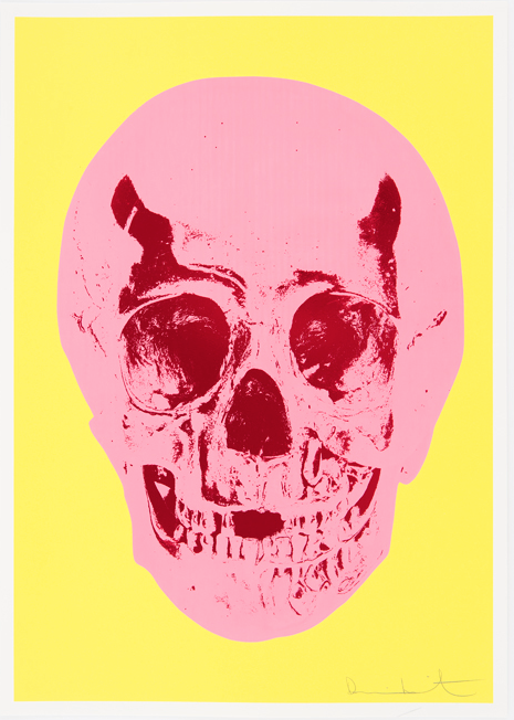 Lemon Yellow Skull by Damien Hirst