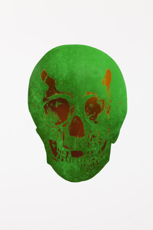 Lime Green Skull by Damien Hirst