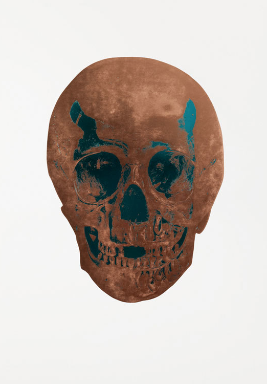 Panama Copper Skull by Damien Hirst