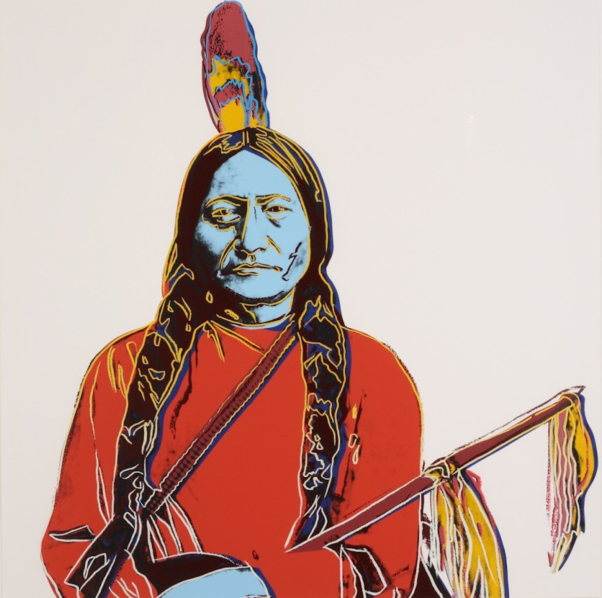 Sitting Bull by Andy Warhol
