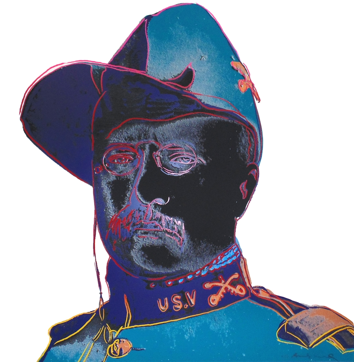 Teddy Roosevelt by Andy Warhol