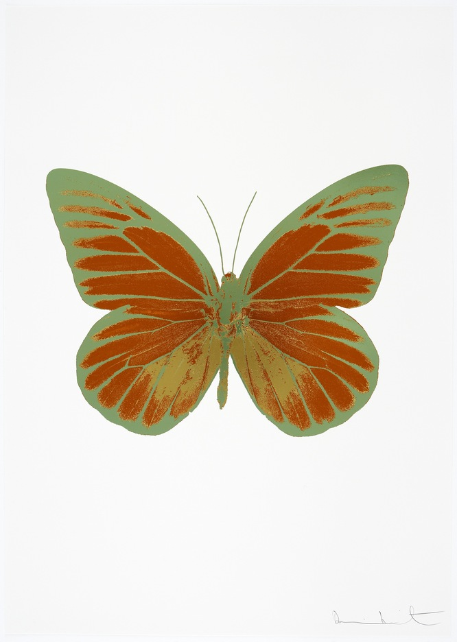 Damienhirst, neo, hirst, The Souls I by Damien Hirst ( Leaf Green)