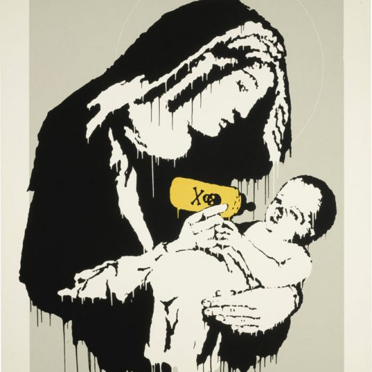banksy, urban, street art, graffiti, Toxic Mary by Banksy