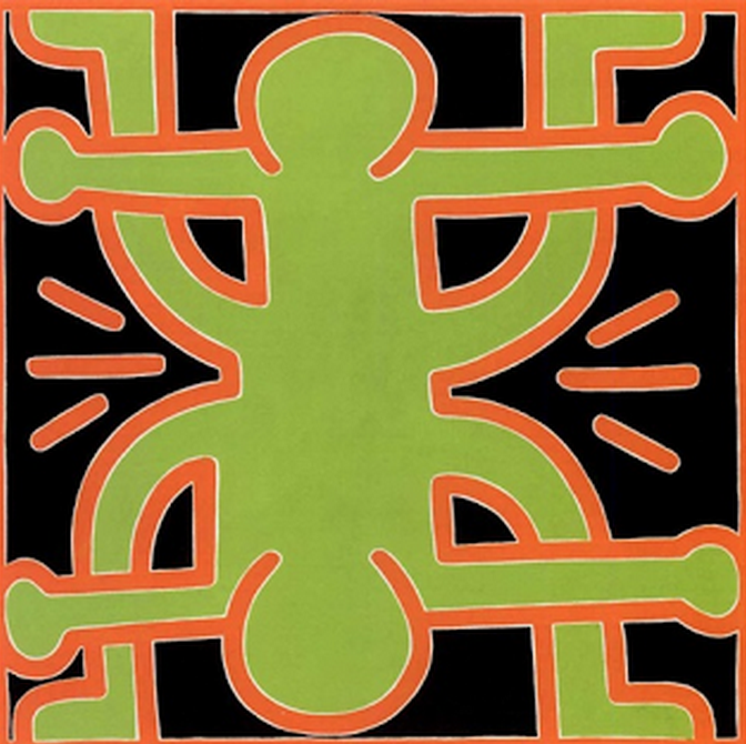 Untitled Painting by Keith Haring