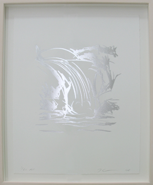 Waterfall Drawing by jeff Koons