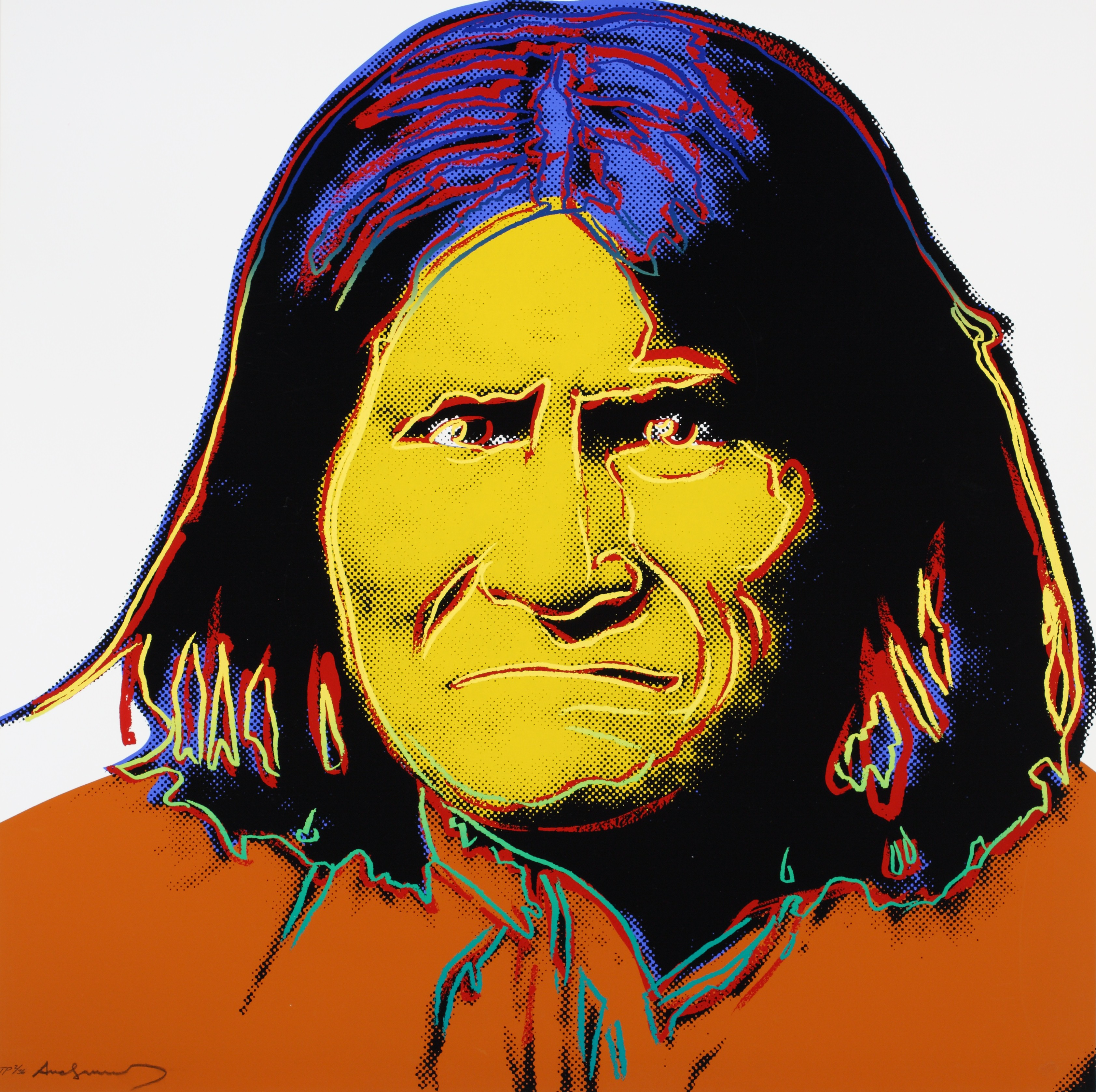 Geronimo by Andy Warhol