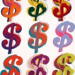 andywarhol, warhol, popart, warhol, White Nine Dollar Signs by Andy Warhol