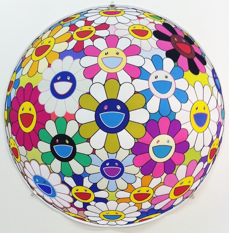 Autum Flower Ball 3d by Takashi Murakami
