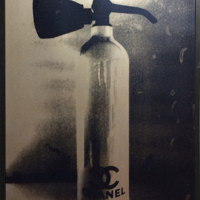 chanel fire extinguisher, gold, niclas castello, print