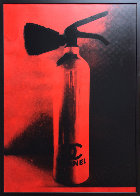 Chanel Fire Extinguisher Red Print by Niclas Castello