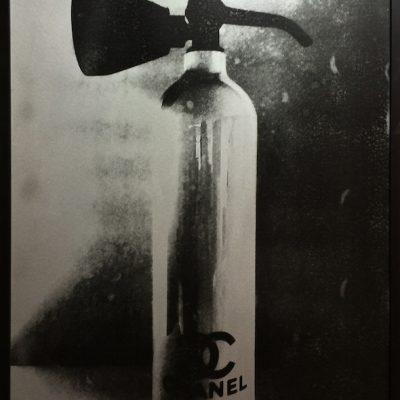 chanel fire extinguisher prints, niclas castello, silver