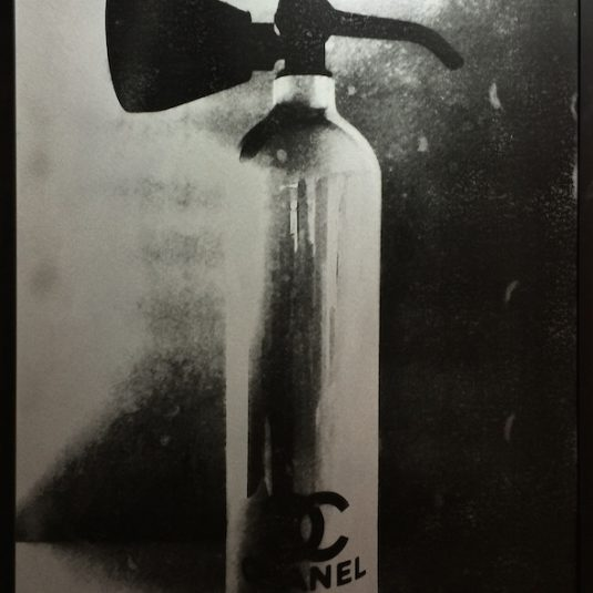 chanel fire extinguisher prints, niclas castello, silver