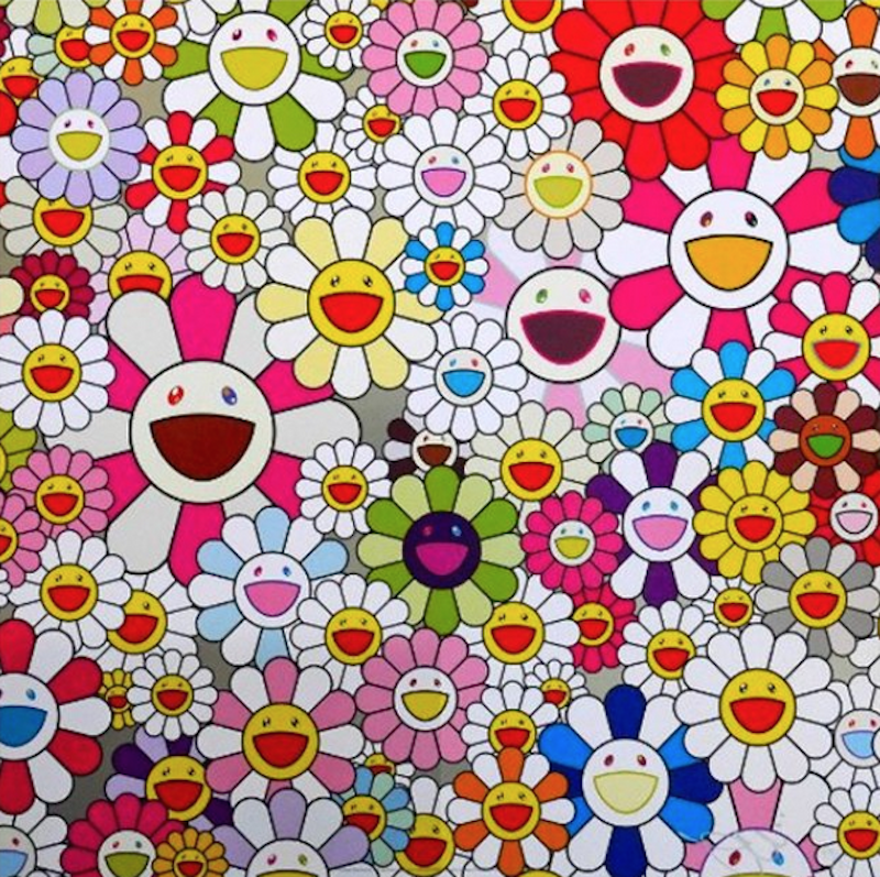 Flowers Blossoming in the world by Takashi Murakami