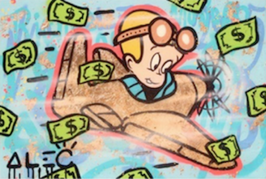 Richie Rich Flying In Money by Alec Monopoly