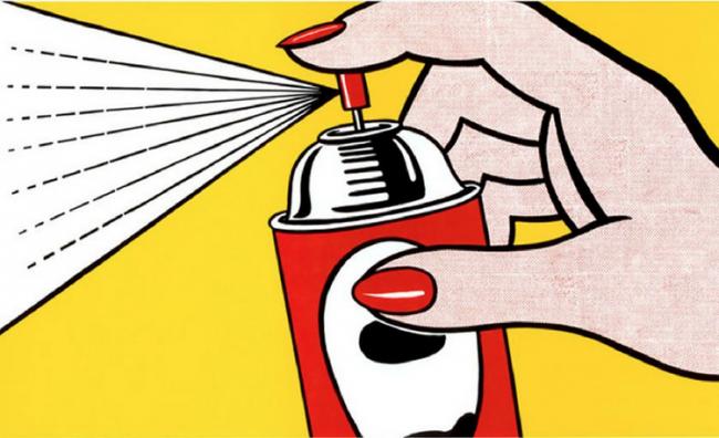 roylichtenstein, Spray Can by Roy Lichtenstein , popart,