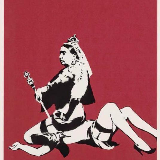 queen victoria, banksy, print