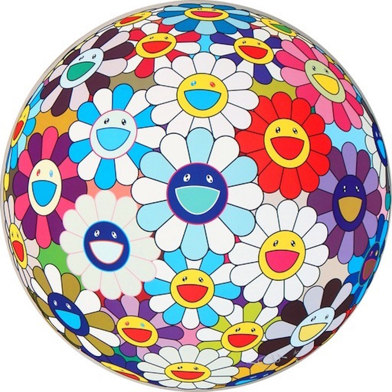 Sequoia Flower Ball 3d by Takashi Murakami