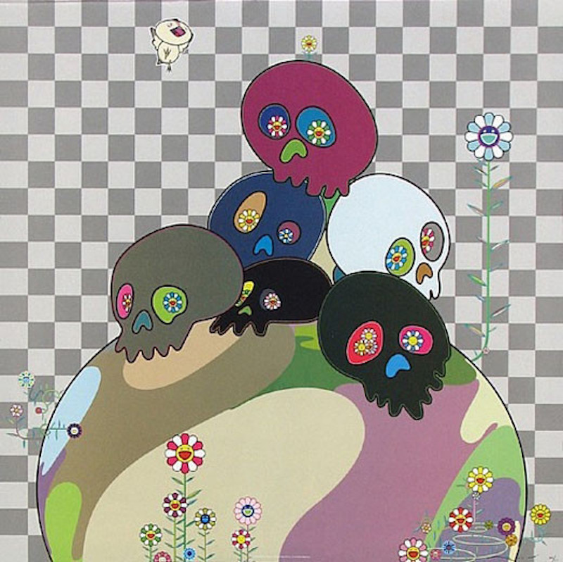 Skull Rock by Takashi Murakami