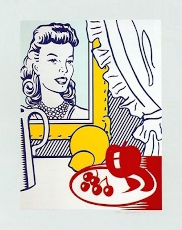still life with portrait, roy lichtenstein, prints