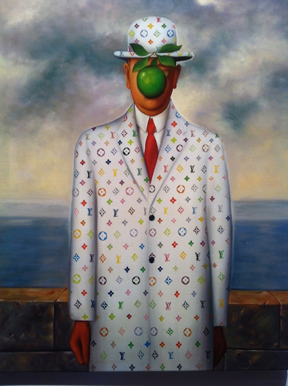 Son Of Man (White) from Brand Dominated Paintings by Jason Alper