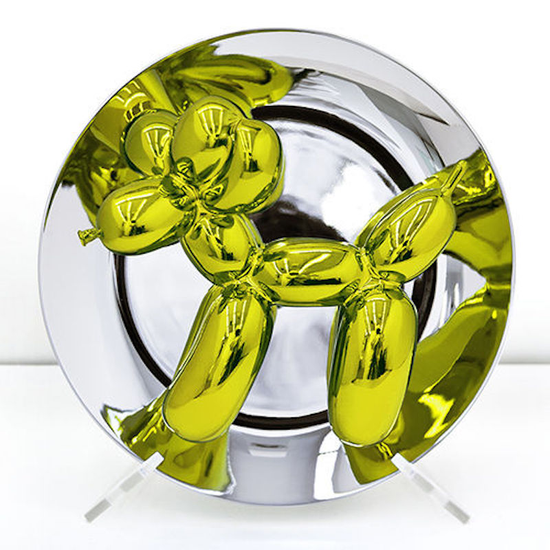 Yellow Balloon Dog by Jeff Koons