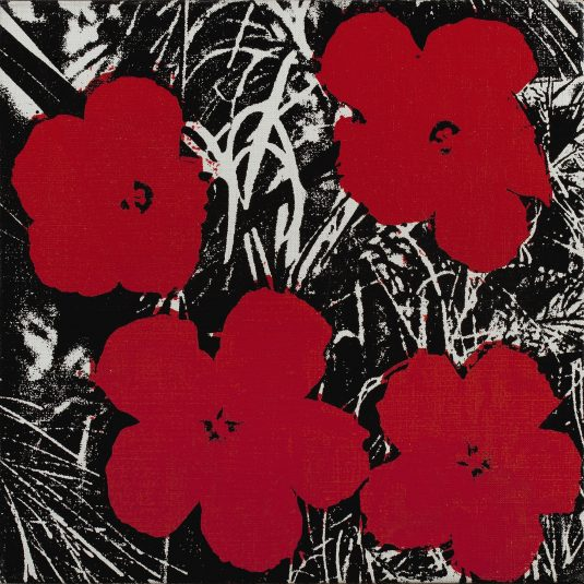 Andy Warhol, Pop Art, warhol, 5 Inch Flower Painting by Andy Warhol