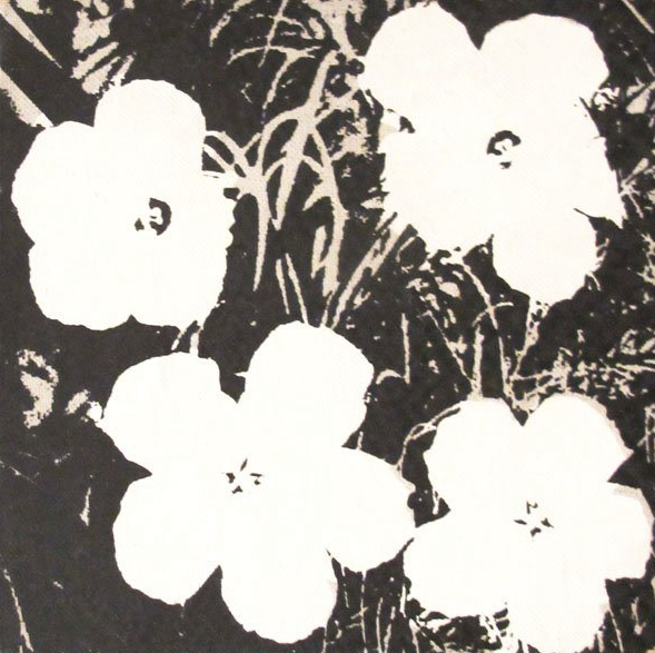 5 inch black flower painting andy warhol guy hepner 5 inch black flower painting andy warhol mightylinksfo