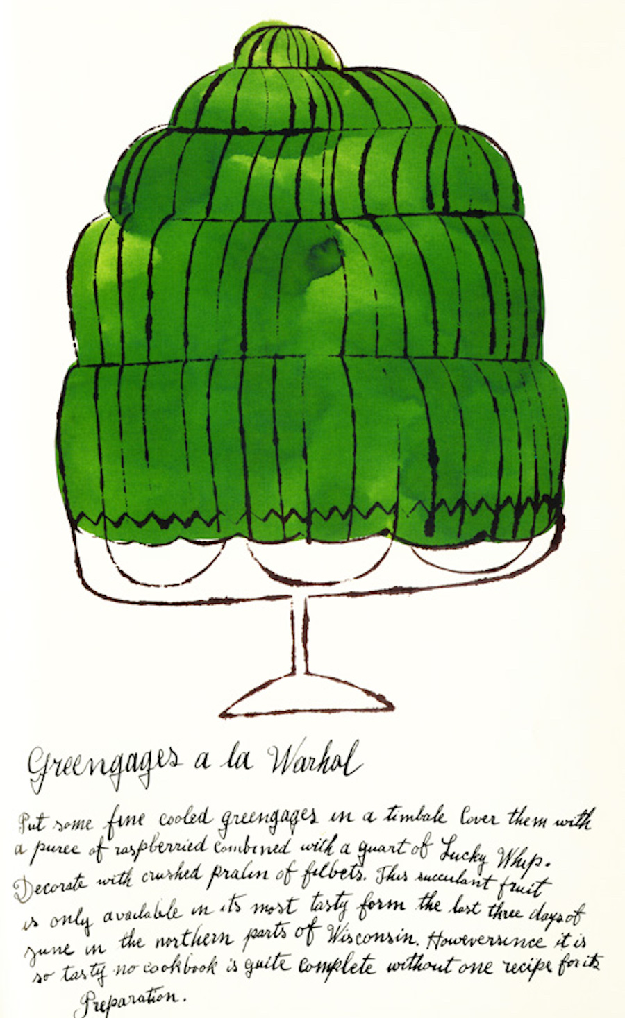Greengages a la Warhol by Andy Warhol