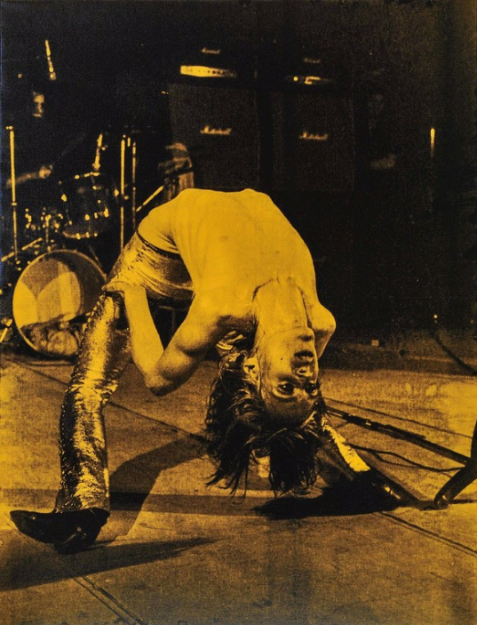 Iggy Pop Backbend by Russell Young
