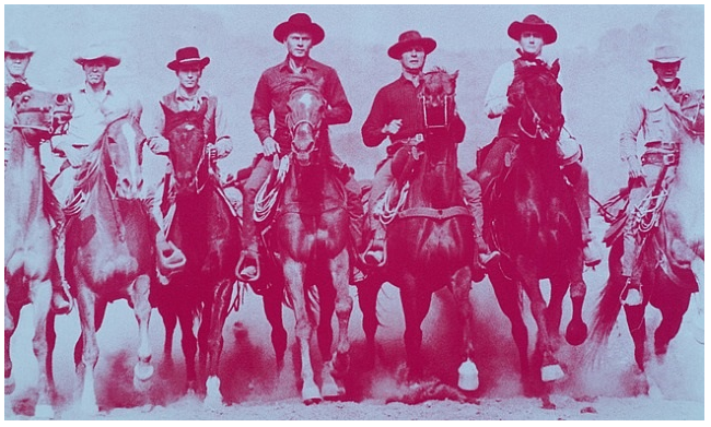 Magnificent Seven (Magenta) by Russell Young