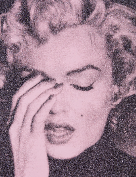 Marilyn Crying ( Formosa Pink) by Russell Young