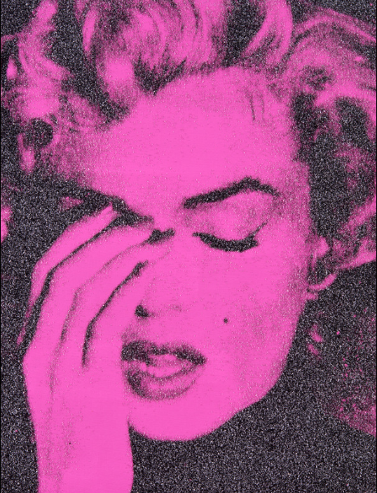 Marilyn Crying (Serrano Pink) by RUSSEL YOUNG