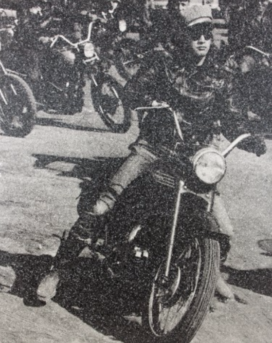 Marlon Brando on Motorcycle by Russell Young