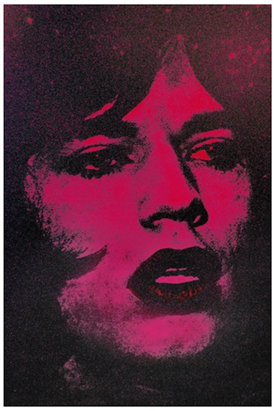 Mick Jagger Pink by Russell Young