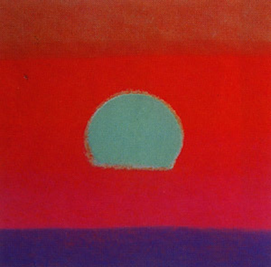 Sunset Blue 87 by Andy Warhol