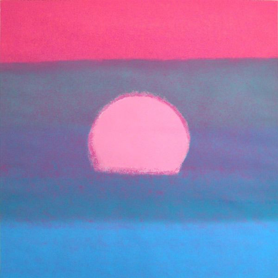 Sunset Blue Unqiue by Anyd Warhol