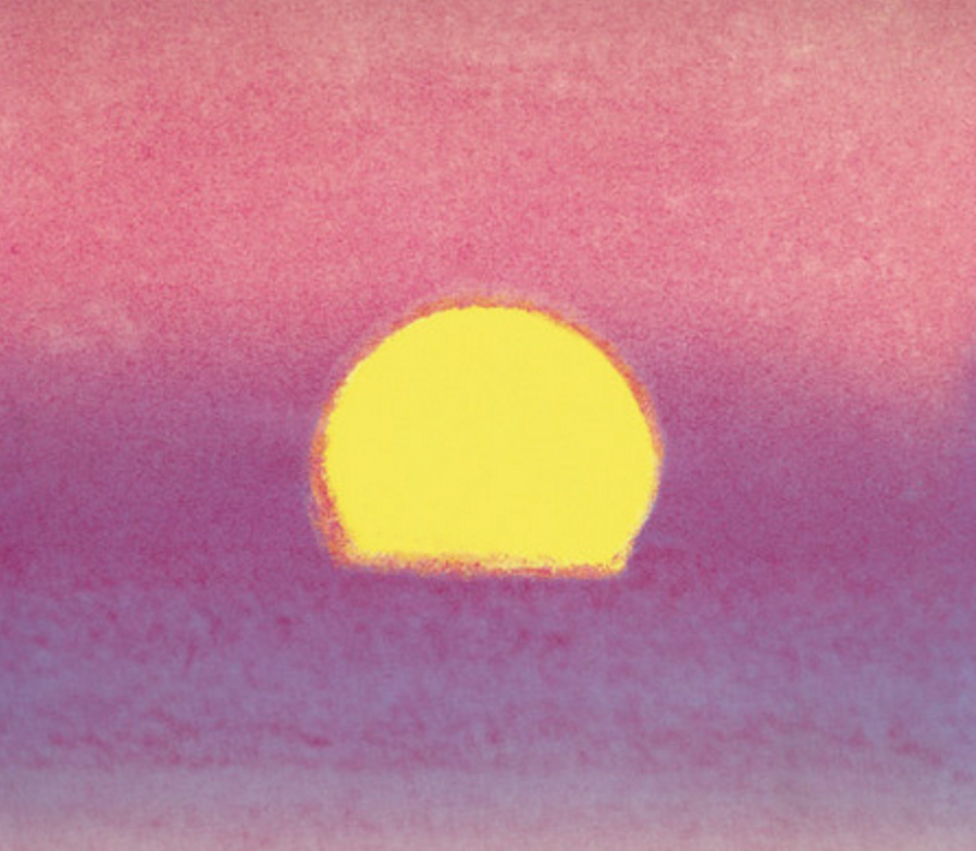 Sunset Unique Purple by Andy Warhol