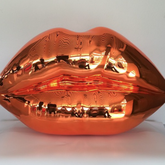 niclascastello, castello, popular, sculpture, Niclas Castello - The Kiss ( Shiny Orange)