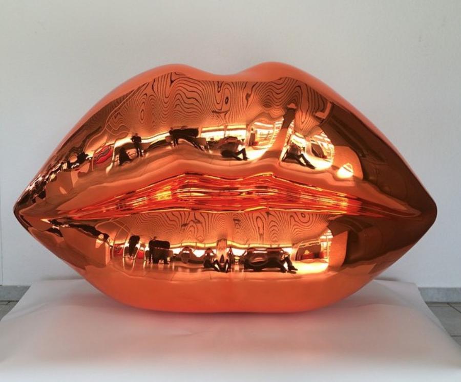 niclascastello, castello, popular, sculpture, Niclas Castello - The Kiss ( Shiny Orange)